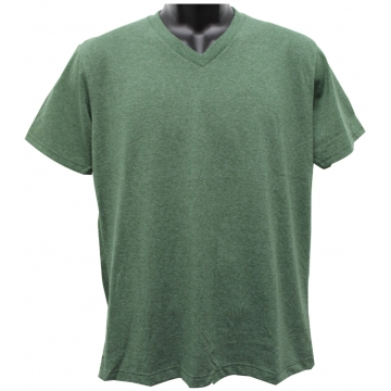 IBS HEATHER COLOR V NECK T SHIRT